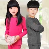 Gift box set children's clothing male female child baby plus velvet thickening 100% child cotton thermal underwear set