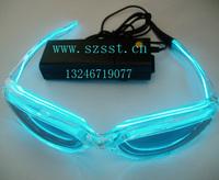 El led glasses flashing glasses light toy adult toy 100 transparent