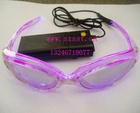 El led glasses flashing glasses luminous fashion glasses cool glasses purple smd-b6