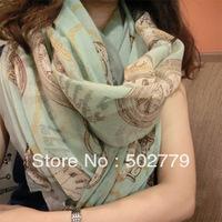 Wholesale scarves, 2013 new fashion watch Korean winter pattern Bali sand scarf, Bali Sand Scarf