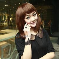 LY4# Promotion Wrist Strap fashion  jewelry Trendy Retro Elegant Adjustable black Lace Dance Bracelet  for Women