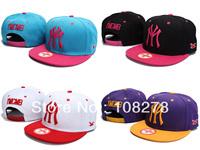 Free shipping Hip-hop YMCMB snapback adjustable hat bboy baseball cap flat hat
