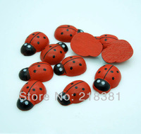400pcs Cute Red ladybug  Wooden Cabochons For Scrapbooking/Decoration Diy 13X19mm A00434