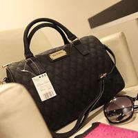 mg001 2013 Fashion designer handbag Mng plaid For women's Shoulder/Messenger handbag BRAND black plaid bucket dimond/brand bag
