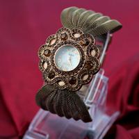 Vacuum Plating Rose Gold Watchcase Lasting Color Preserving Wristwatches Flower Bracelet Quartz Watch, Women Dress WatchesML0456