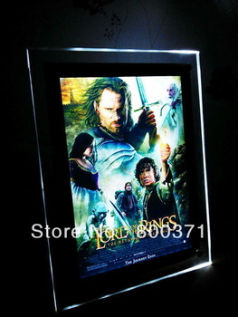 Acrylic Frameless Home Theater Sign 600mmx900mm Movie Poster Light Box