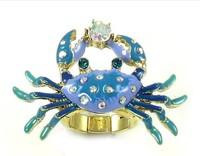 Fashion bj crab ring 130630