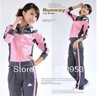 Women's long-sleeved hooded casual sportswear suit woman suit jacket + Pants Free Shipping