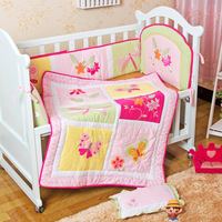 Free shipping 100% cotton 4-piece flower bedding set