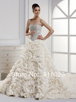 Wedding dress 2013 latest custom hand made top quality sweet women wedding gowns 0121