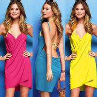 Free shipping + Female all-match one-piece dress beach dress swimwear hot springs bikini outerwear