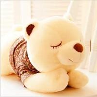Free shipping 55cm bear doll plush toys  animal Hold pillow cute doll plush stuffed toy girl a birthday gift 1 pc