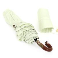 2014 new ultra-light laciness three folding sun protection anti-uv manual umbrella  long handled