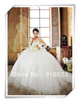 Luxury wedding dress 2013 ball gowns removable skirtKorean version of sweet bride Qi strapless lace diamond princess tutu