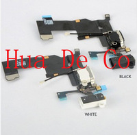 Headphone Audio Jack Dock Charger Connector Flex Cable Ribbon for iPhone 5 5G black and white colour