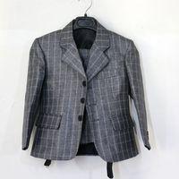 2013 new fashion three pcs  plaid grey boys wedding suit grey kids blazers suits free shipping