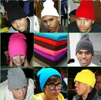 Harajuku zipper gd neon color line hat knitted hat knitted hat autumn and winter hat