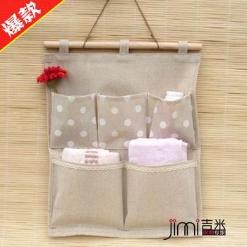 Single zakka fluid fabric small storage bag wall small fresh hanging bag glove