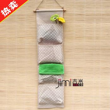 Single fluid cloth storage bag wall multi-layer storage bags wall mounted storage bag