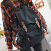 Large capacity lovers casual backpack chromophous side pocket canvas bag backpack male student bag