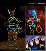 200pcs(2 Roll) High Quality Light Stick Led Color Flashing Bracelet Necklace Glasses Toys , Good Festival item, Multi color