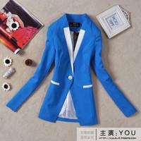 2013 spring women's beautiful short jacket fresh candy color medium-long slim blazer