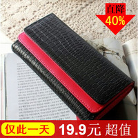 2013 card women's wallet girls double flip stone pattern wallet women's long design wallet