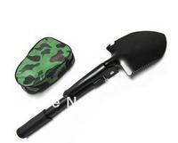 Foldable multifunctional shovel  Folding army shovel Free shipping