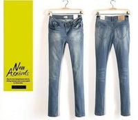 Promotion 2013 high quality women's Za** bas** mid waist slim pencil skinny jeans denim jeans Size XS-XL Free shipping
