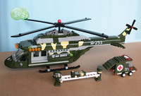 2013 new designed toys for boys models & building toy  ABS building blocks  263 pcs helicopter  model christmas gift for  boy