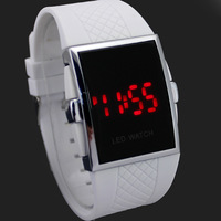 Popular Vogue Sport Watch Best Xmas Gift Fashion Business Students Gentleman's Digital Hand Watch with LED Mirror