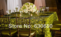 Free Shipping Army Green Satin Rosette Table Cloth For Weddings Decoration