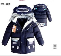 [Just Kid]Free shipping the winter new style 2013 children's casual padded jacket kid's high quality winter coat for boys wear