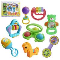 Toy baby hand rattles set combination newborn parent-child toys