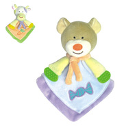Toy cartoon style infants appease the towel baby teethers rattles plush doll toy