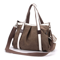 2013 summer hot-selling women's one shoulder cross-body travel bag large size casual vintage canvas bag man bag women's handbag