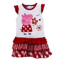 Drop Shipping Brand New Summer girls Peppa Pig Dresses kids Peppa pig Carton vest dresses for children Baby Fashion Wears