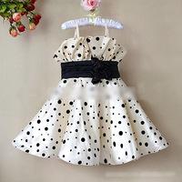 Baby Girl's Cute evening dress 2013 new arrival Dots Puffy flower girl dress 6 pcs lot YA1005