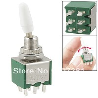 10pcs AC 250V 2A DPDT ON/ON 6 Terminals Green Toggle Switch