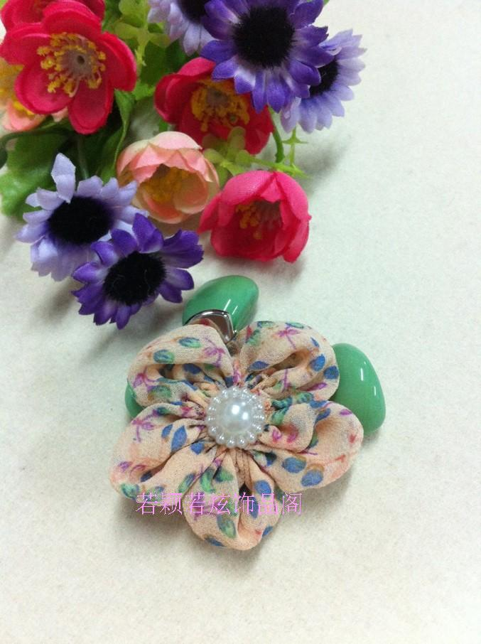 Flower hair accessory child side-knotted clip