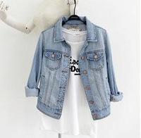 Free Shipping 2013 spring and autumn fashionable denim outerwear female elegant long-sleeve all-match denim short jacket