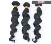"Queen hair products brazilian big wave virgin hair extensions human hair weft more wavy 3pcs lot 8""-26"" bundles Free shipping"