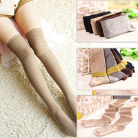 cotton Over Knee Vintage Socks Thigh High pantyhose Stocking knitting leggings 5 colors Acima do Joelho Stocking
