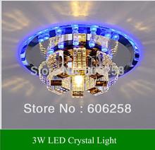 Crystal Lamp Led Aisle Lights , Entrance Corridor Light , Ceiling lamps  Lighting 3W(China (Mainland))