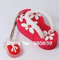 Free shipping 2GB 4GB 8GB 16GB 32GB 64GB slippers usb pen drive usb flash drive Plastic Memory Stick pendrive Bulk
