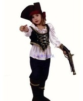 Dayses cosplay clothes child pirate clothes small pirate clothes 4 - 14 male