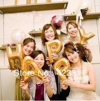 Small Letters AZ aluminum Balloons Birthday Party Celebration Wedding venue Decorated golden