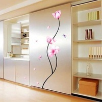 Free Shipping Wholesale--Pink Wall Sticker 10Sets/Lot The Decoration Of Home Wall Stickers Decor 70x50CM