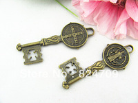 DHL Free Shipping Vintage Pendant,Antique Bronze,Key Charms Pendant,Key charm Connector Findings Fit Necklace DIY Fashion