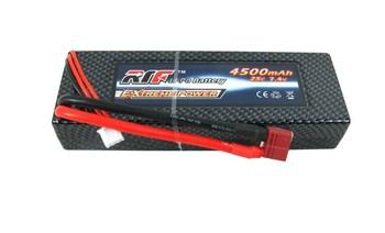 4500mah 7.4v 25c hard case car electric lithium battery electric